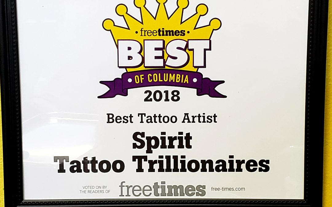 Best Tattoo Artist of Columbia SC 2018